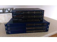 Netgear switches x 6