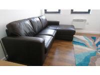 Dante Leather Corner Chaise (Sofa)