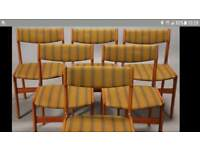 Set of 4 Vintage Mid Century Teak Dining Chairs