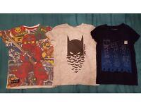 Bundle of boys clothes age 6 - Minecraft, Lego Ninjago, Batman.