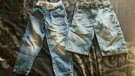 Boys Jeans/shorts age 5-6