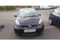 Toyota Aygo Black VVT-I. Immaculate condition. Low mileage. Cheap tax & insurance.