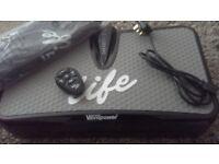 Black Vibrapower life excellant condition unused with remote control still in box.