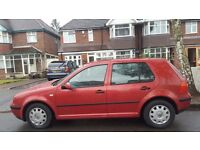 VW GOLF AUTOMATIC, 02 REG, 120K MILES, HPI CLEAR, MOT, MECHANICALLY SOUND, DELIVERY AVAILABLE