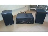 Phillips CD player, Cambridge Audio amp, & 2 x Eltax Monitor 3 speakers