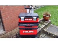 Hilti tool Chest with detachable tool box