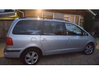 Seat Alhambra 1.9TDi Stylance Tip, Automatic, Silver.