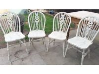 Shabby Chic Dining Chairs painted with Annie Sloan Chalk paint