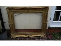 ANTIQUE VERY LARGE GILT ORNATE MOULDING PICTURE FRAME