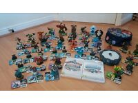 Skylanders - Spyro's Adventure/ Giants (Wii) + Portal, Carry case, 44 listed figures