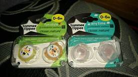 Brand new tommee tippee 0-6 months soothers