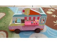 Wooden Ice cream van with minature ice creams included