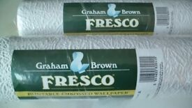 2 rolls of Fresco wallpaper