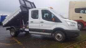 2015-65 plate transit mk8 125-35 7 man crew cab tipper ex our own fleet plus vat