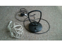 Portable Freeview Digital TV Amplified Indoor Ariel (With spare extension cable)
