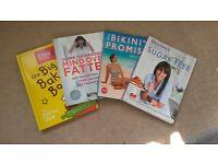 Like new, diet and health books - Davina, Sally Bee, Anna Richardson, Ella's kitchen.