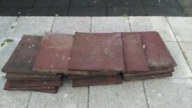 Heavy Duty Rubber Thick Mat Flooring Tiles, used, red. x 30