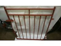 Solid Heavy Iron Fence Gate - Cleaned and Painted in Primer - 84cm W x 102cm H