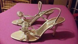 Ladies Cream with Silver Diamanté sandal only £10!