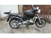 bmw r1100r black 1999 long mot lots of extras