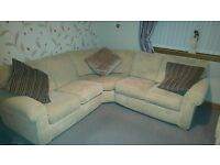 corner sofa and single chair