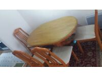 Used Dining table with 4 chairs