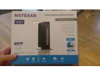 Netgear N300 DG2200 router, as new