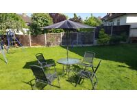 6-Piece Garden Furniture Set - Table + 4 chairs +Parasol from Clas Ohlson
