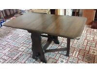 Webber 'Croydon' range mid 20th century oak drop side dining table
