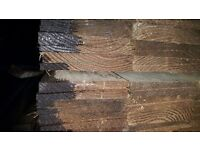 8inch larch featheredge x 4.2 metres