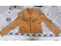 Vintage tassel jacket - Suede - size 12
