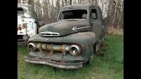 1951 ford f1 deluxe cab panel van/wagon