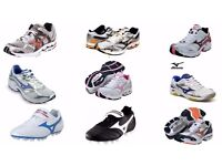 500 Pairs Mizuno Footwear Trainers Shoes, Football Boots Brand New