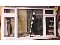 USED WHITE UPVC WINDOW IN GOOD CONDITION 2400mm x 1330mm