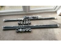 New Laura Ashley Curtain Poles - Black