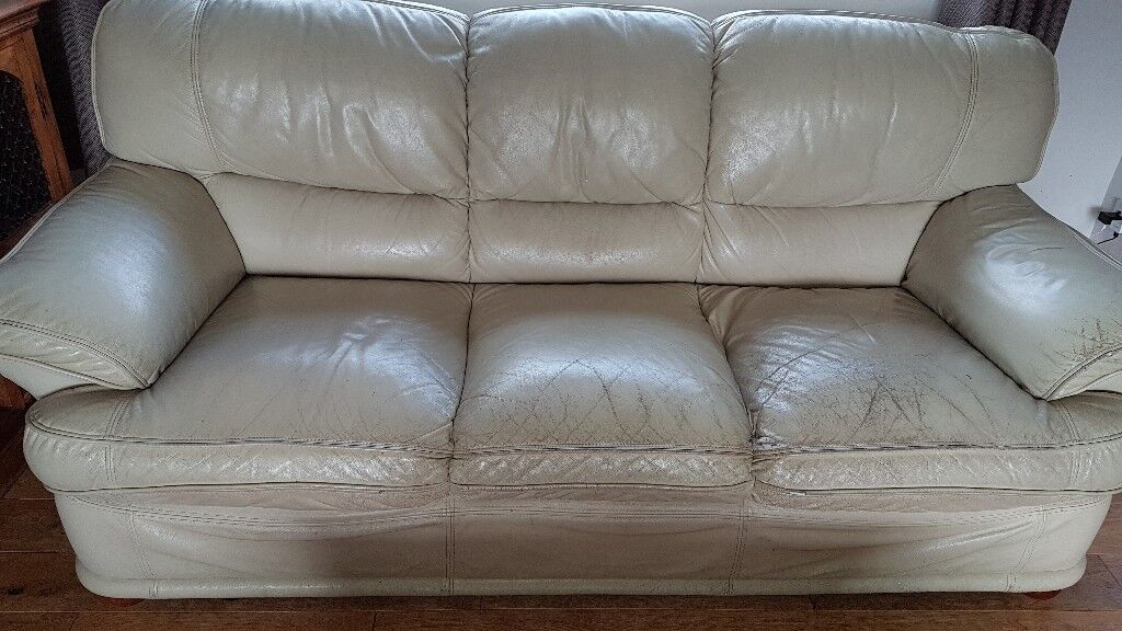 Leather Sofa Suite Free In Huddersfield West Yorkshire Gumtree