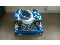 my child baby car walker-blue