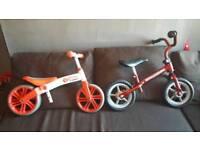 2x balance bikes