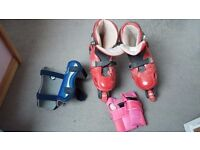 Inline roller boots