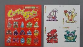 Six vintage retro Gogos Crazy Bones from Series 1 and 2 in the 1990s – post or collect