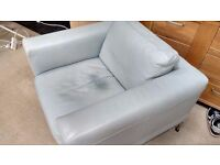 Light Blue Ikea Leather chair