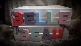 Handmade personalised box
