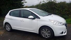 White Peugeot 208 1.2 for sale.