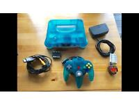 Ice Blue N64 Console w/ Expansion Pack