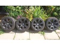 Alloy Wheels VW Transporter / BMW - Nearly New Tyres. 5x120 17inch 225/45 17 (T4, T5, T32)
