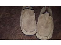 Mens Tan Slip On Base London Loafer Shoes Size UK 9 43