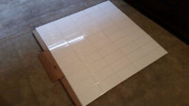 Glazed Wall Tiles 20 x 10cm boxed (new) in gloss white