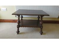 Antique, Dark oak DUTCH COFFEE TABLE, traditional style, in good condition