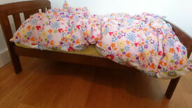 John Lewis Boris Cot Bed with Bamboo and Coconut and Wool Mattress