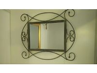 Small Mirror with Decorative Metal Frame